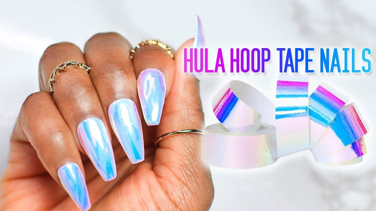 DIY Fake Nails Using HULA HOOP Tape | Unicorn 💅🏾 - YouTube