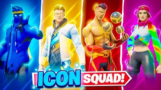 World's First FORTNITE ICON SQUAD ft. Ninja, Loserfruit & Grefg