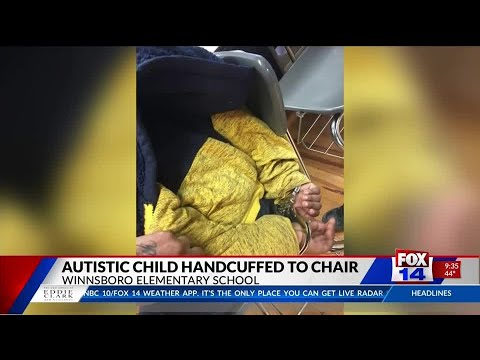 Autistic child handcuffed to chair at Louisiana Elementary School