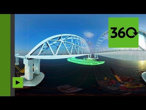 Les travaux titanesques de construction du pont de Crimée filmés en panorama