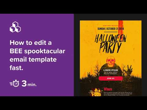 How To Edit A BEE Spooktacular Email Template In 3 Minutes.