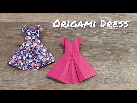 How to Make an Origami Dress / Easy Paper Dress