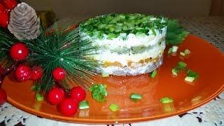 Слоёный салат из куриной печени!!!####Layered salad with chicken liver!!!