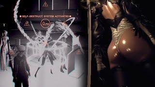 NieR: Automata - Remove 2B's Skirt + Secret DebUnked Ending