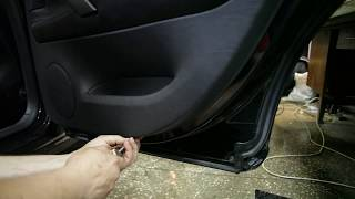 Skoda SuperB disassembly door -(разборка двери) part I