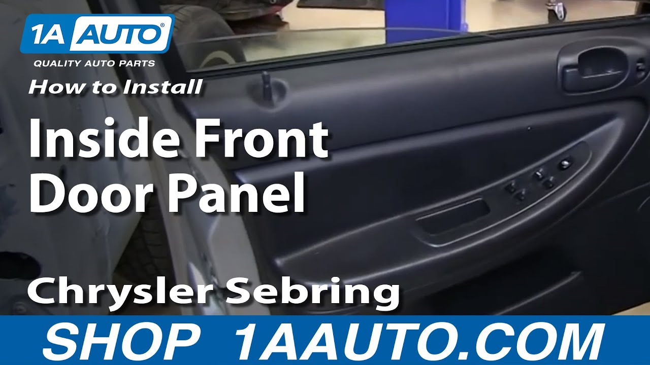 How To Install Remove Inside Front Door Panel 2001-06 Chrysler ...