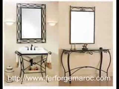 console fer forg console en fer forg youtube. Black Bedroom Furniture Sets. Home Design Ideas