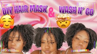D I Y Hair Mask for Damaged Hair Wash and Go routine For Curly Hair