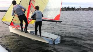 29er No rudder sailing with Dave O'Connor