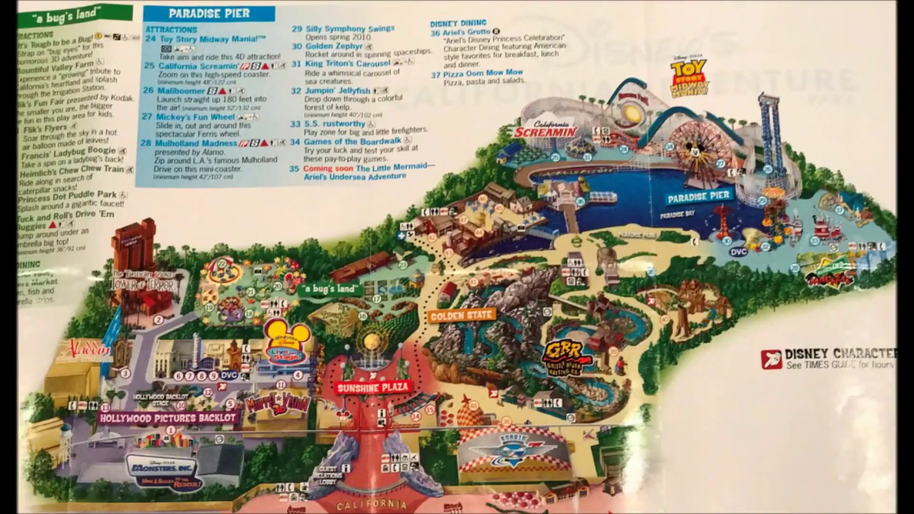 Map Of California Disney.Disney California Adventure Maps Over The Years 1 See Video 2 Its Updated