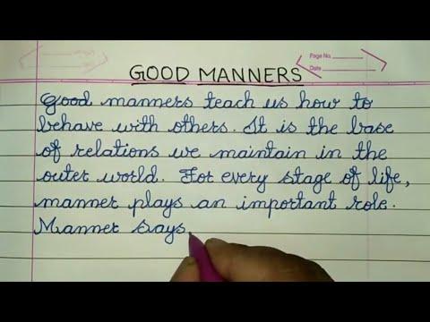 essay good behavior classroom