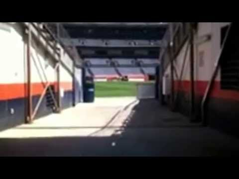 Running on to Mile High Stadium were the Denver Broncos play