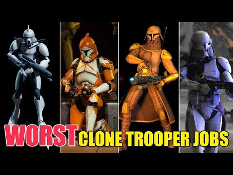 9 Worst Jobs for a Clone Trooper