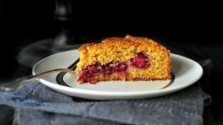 Honey Butter Blackberry + Lemon Polenta Cake