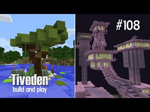 Minecraft Build & Play - Tiveden #108 - Custom Tree and Shulker Hunting