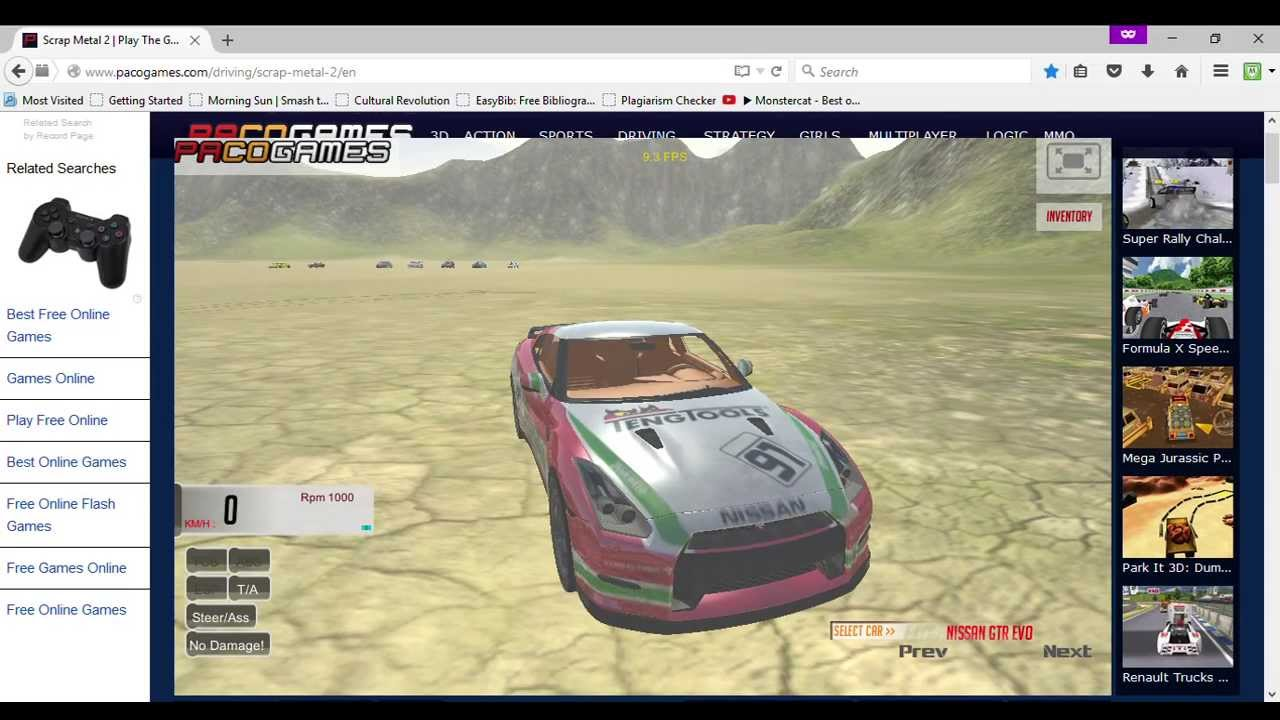 Scrap Metal 2 on Pacogames.com nissan GTR EVO - YouTube