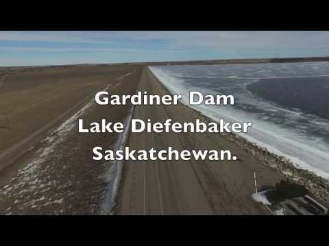 Gardiner Dam on Lake Diefenbaker , Saskatchewan March 2016 (Are you with me) Phantom 3