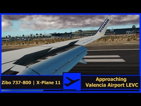 Approaching Valencia Airport [LEVC] | Ryanair FR1918 | ZIBO