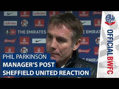 PHIL PARKINSON   Manager's post-Sheffield United reaction