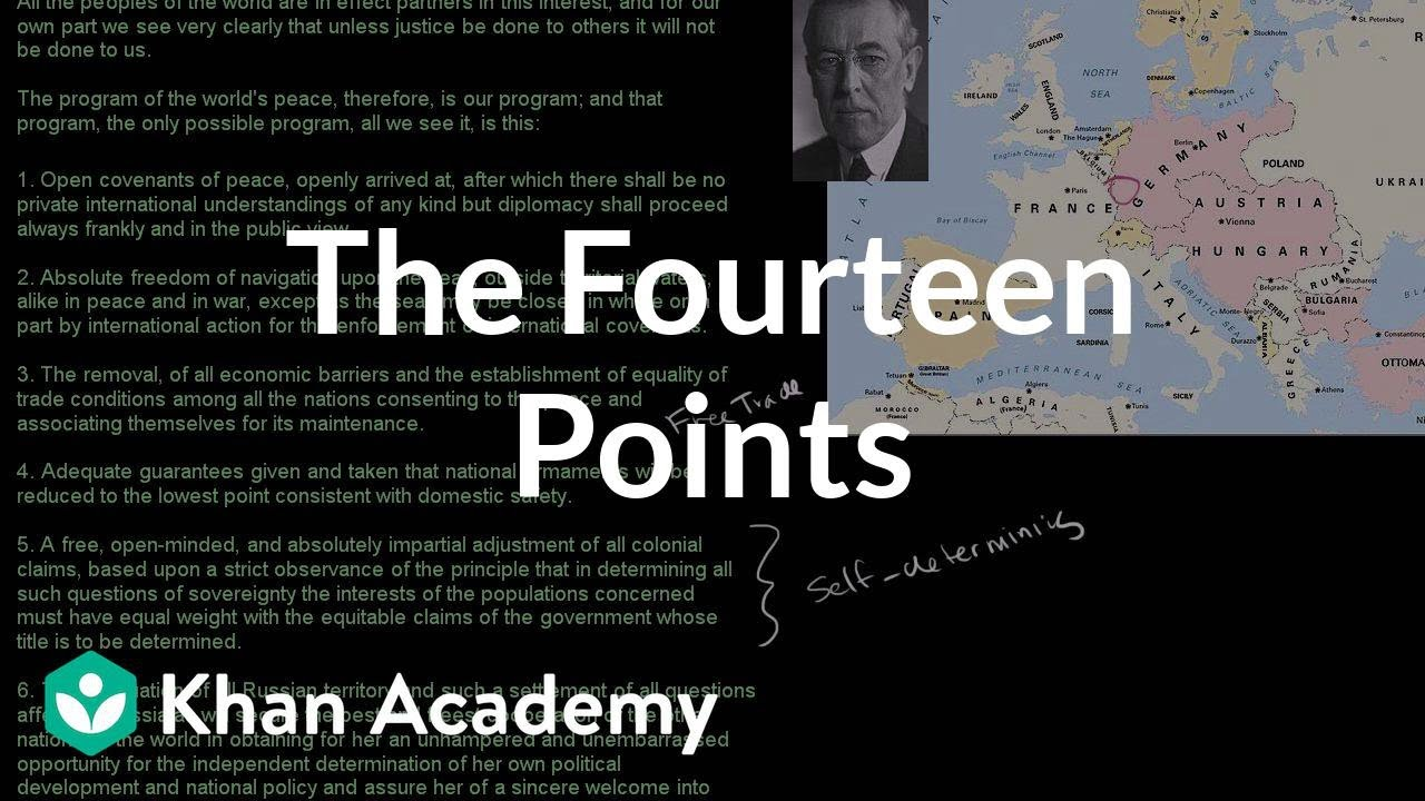president woodrow wilsons fourteen points essay Woodrow wilson essay  woodrow wilson's vision of an enduring world peace was set forth in his fourteen points, presented before the peace conference at .