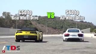 Audi R8 V10 vs. Chevy Corvette Z06