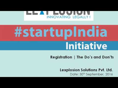 Start Up India Initiative: The Do's and Don'ts to get Registration