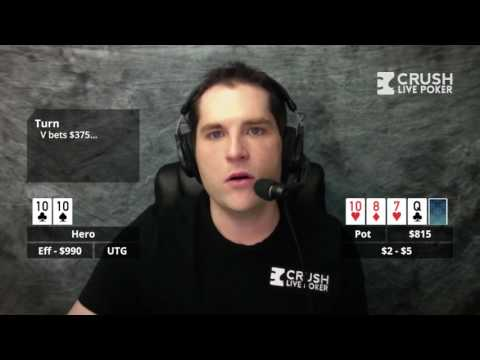 Poker Strategy: Playing Top Set on a Wet Board 200BB Deep Against a Check Raise