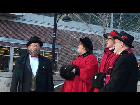 Christmas carolers in the Power & Light District KCMO