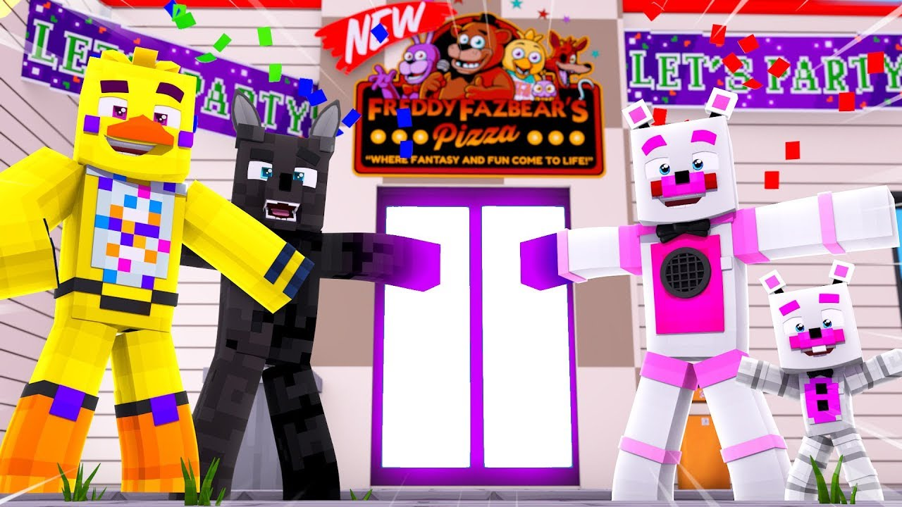 Funtime Freddy's NEW Pizzeria Grand Reveal !! | Minecraft FNAF Roleplay