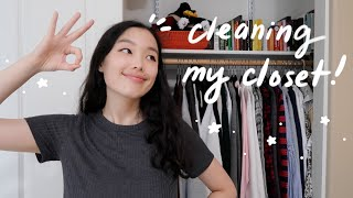 cleaning out my entire closet!! (kinda with the konmari method but not rly)