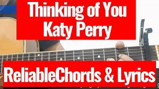 Katy perry - thinking of you acoustic karaoke (chords and lyrics) cover