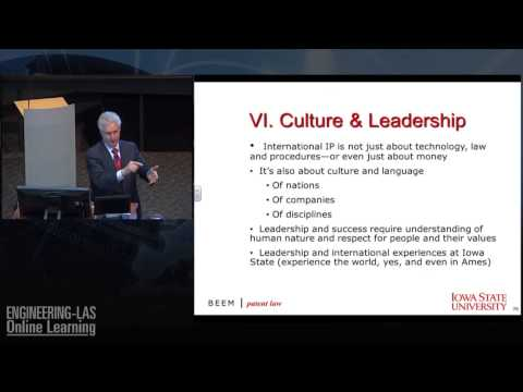 Patent Issues & Tensions - Culture & Leadership - Intellectual Property - RIch Beem at Iowa State