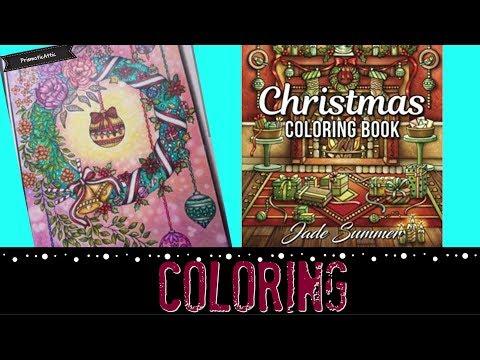 Wreath Jade Summer | Prismacolor pencils - color along
