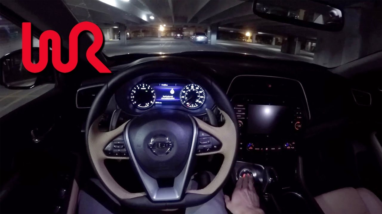 2016 Nissan Maxima Sr Wr Tv Pov Night Drive Youtube