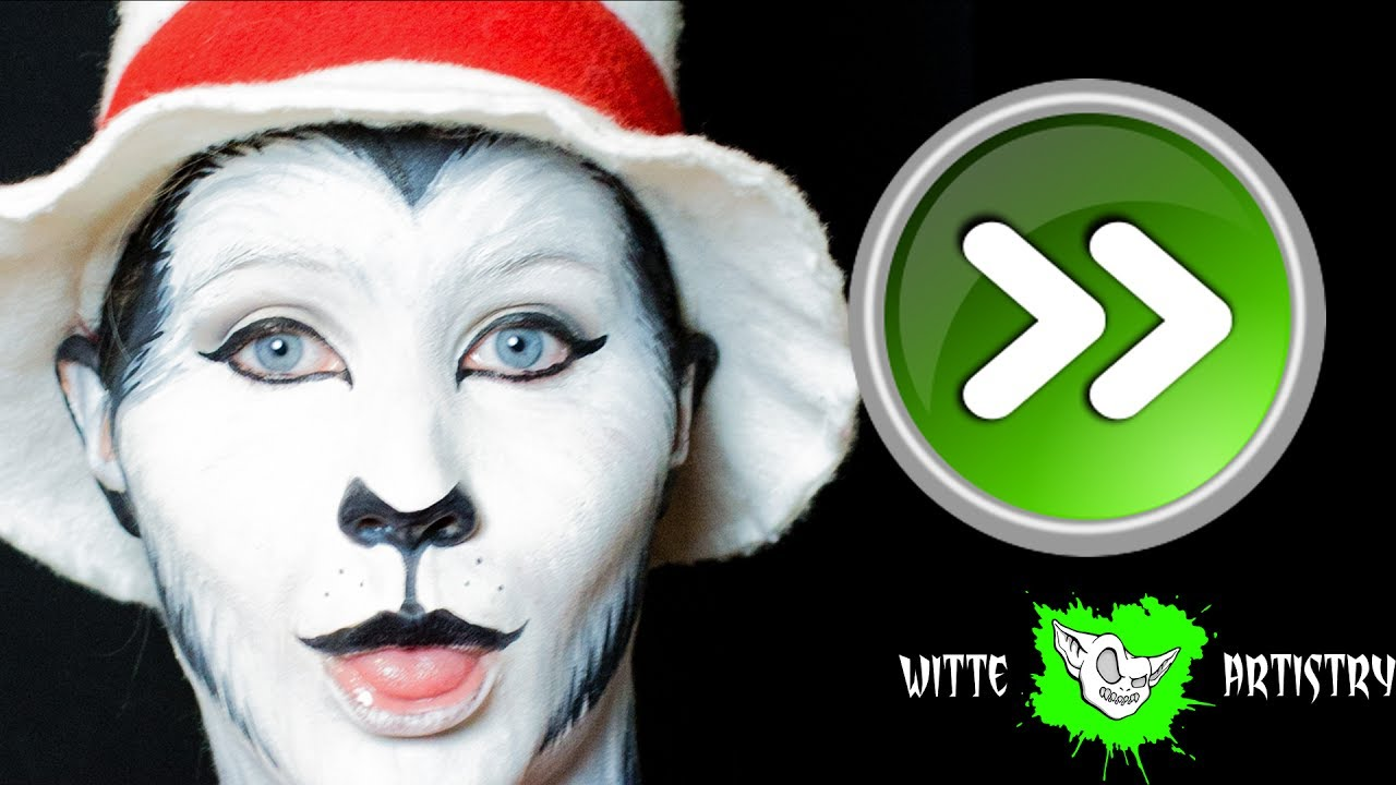 ✅CAT IN THE HAT MAKEUP Tutorial Dr Seuss (Speed-Paint) - Witte Artistry