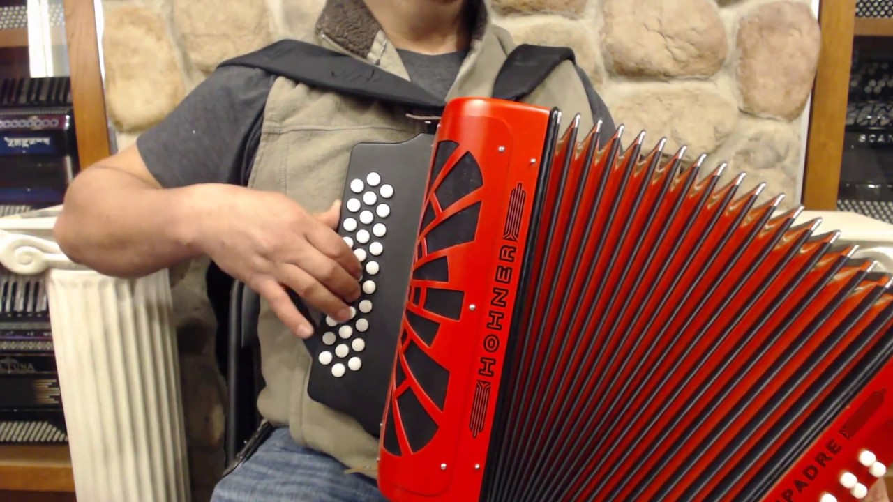 hohncomgrd new red hohner compadre diatonic button accordion mm 31 12 849 youtube. Black Bedroom Furniture Sets. Home Design Ideas