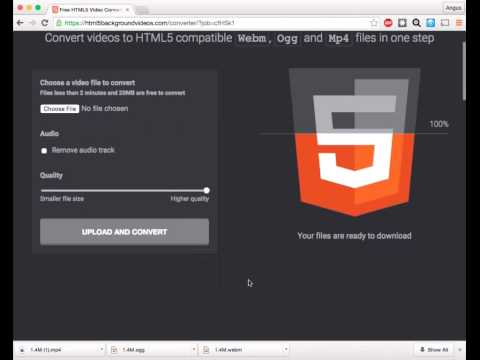How to convert video to HTML5 compatible formats