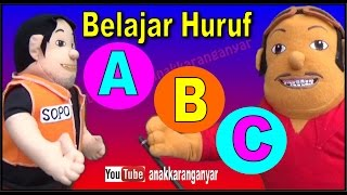 Belajar ABC huruf Latin bersama Boneka Sopo Jarwo