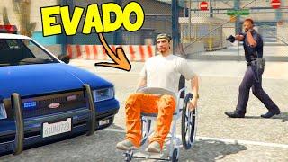 GTA 5 VITA REALE Online 👮 EVADO Di PRIGIONE in SEDIA A ROTELLE!  *Arrestato* 😎 Gta 5 Mod ita