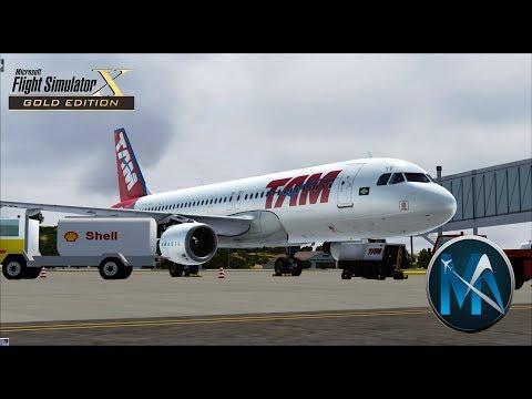 FSX - VOO  CUIABÁ - BRASÍLIA - CONGONHAS (CGB-BSB-CGH) -  AIRBUS A320-214 TAM