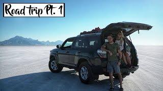 Путешествие на машине по АМЕРИКЕ | Высохшее соленое озеро