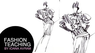 One line drawing in marker by Ioana Avram_Speed Drawing Thumbnail