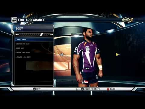 Sisa Waqa | Remake Tutorial Player Creator | Rugby League Live 2