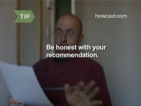 How To Write A Letter Of Reference - Youtube