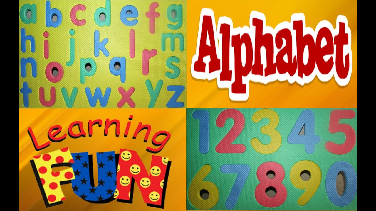 Learn Alphabet and Numbers Puzzle for Children Educational Game