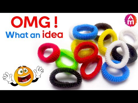 Best out of waste from hair rubber bands crafts idea | DIY HOME DECOR