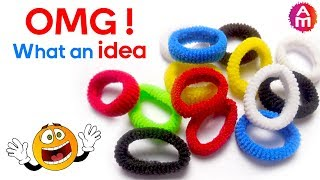 Best out of waste from hair rubber bands crafts idea | DIY HOME DECOR thumbnail