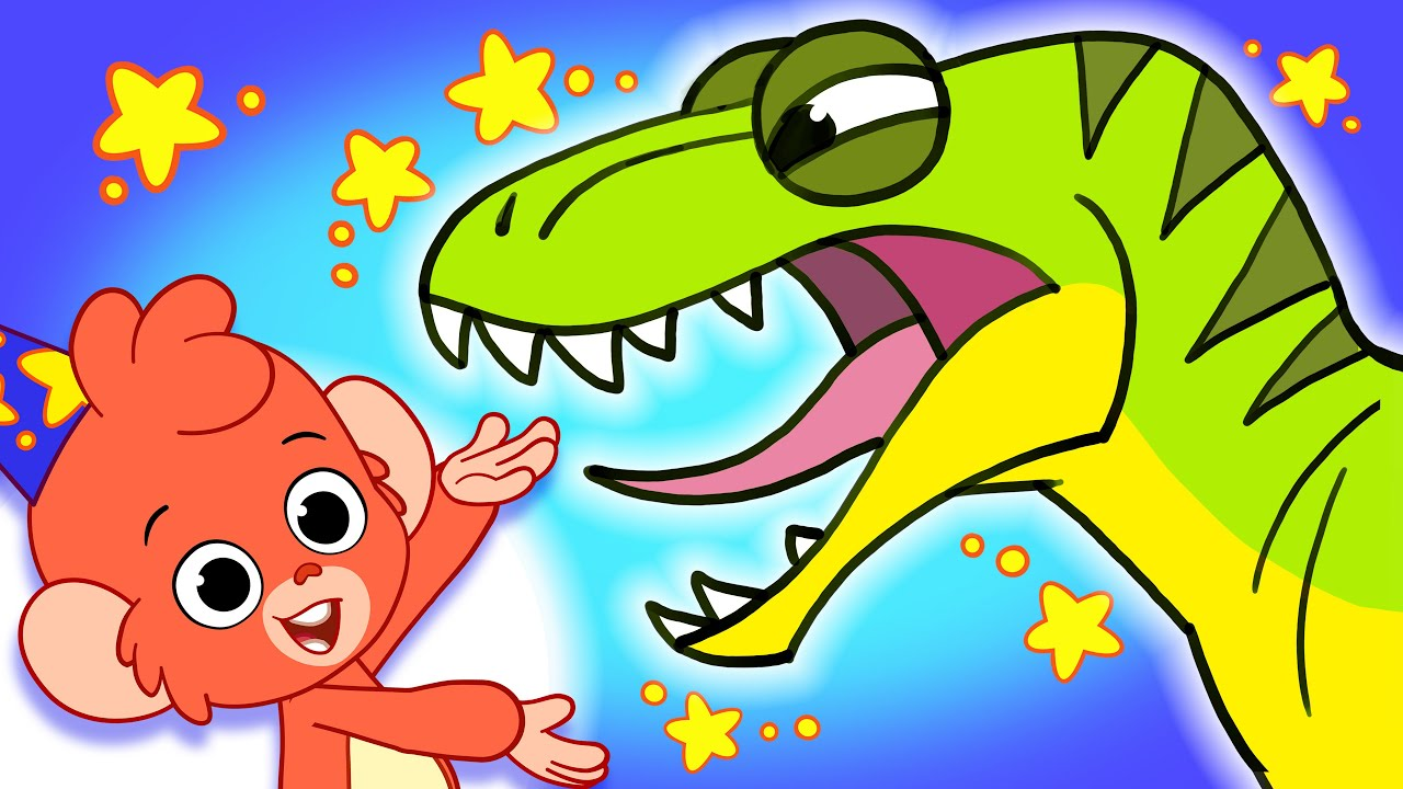 Learn Dinosaurs for Kids | T-Rex Triceratops Playing Dinosaur Cartoon video  | Club Baboo