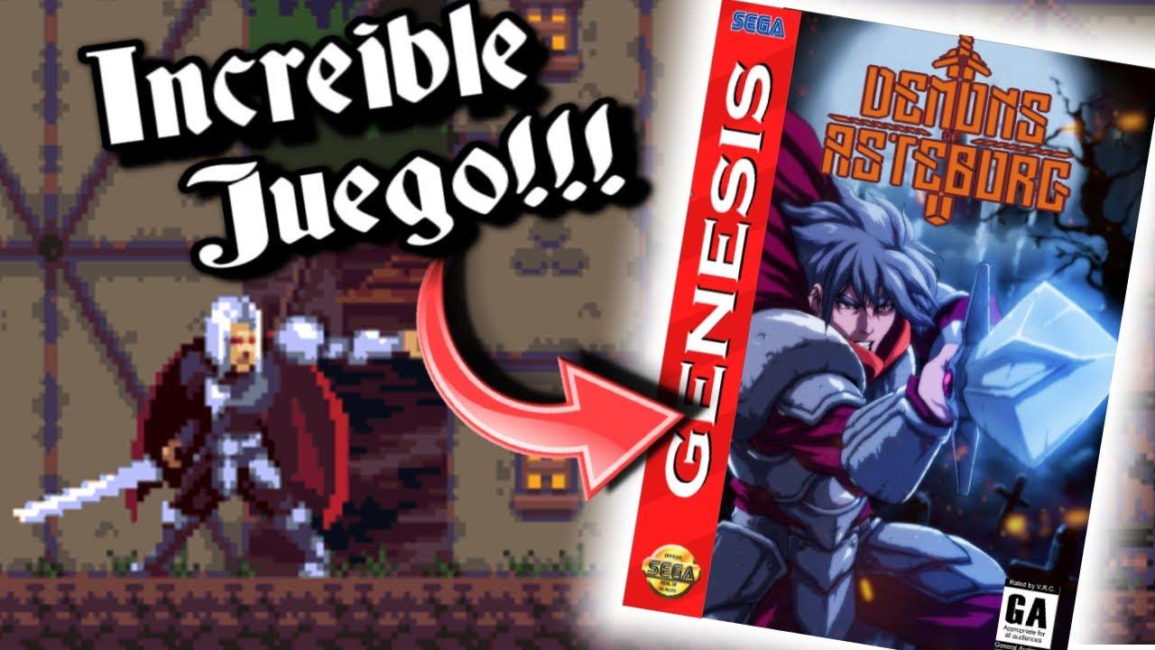 Se viene un INCREÍBLE JUEGO A SEGA GENESIS!!! Demons of Asteborg (+ DEMO ROM) Mega Drive - homebrew