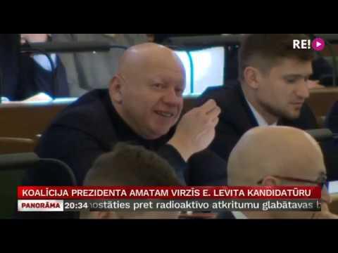 Koalīcija prezidenta amatam virzīs E. Levita kandidatūru